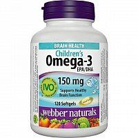 Webber Naturals Omega 3 pre deti žuvacie tablety 1x120 ks