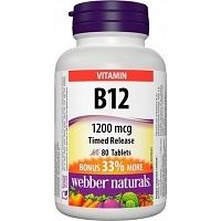 Webber Naturals Vitamin B12 1200 mcg tbl 1x80 ks