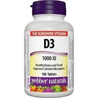 Webber Naturals Vitamín D3 1000 IU tbl 1x100 ks