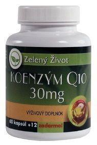 Zelený Život KOENZÝM Q10 30 mg cps 60+12 zadarmo