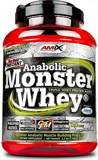 AMIX Anabolic Monster Whey 2200 g strawberry banana