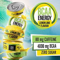 Gymbeam BCAA Energy drink 250 ml lemon lime
