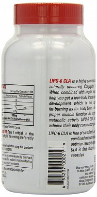 Lipo 6 CLA - Nutrex 45 kaps unflavored