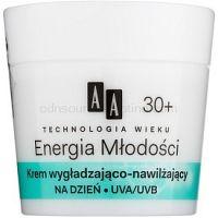 AA Cosmetics Age Technology Youthful Vitality hydratačný a vyhladzujúci krém  30+  50 ml