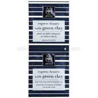 Apivita Express Beauty Green Clay hĺbkovo čistiaca pleťová maska  2 x 8 ml