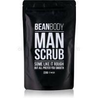 Bean Body Man vyhladzujúci telový peeling pre mužov  220 g
