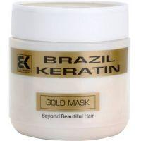 Brazil Keratin Gold keratínová regeneračná maska pre poškodené vlasy  500 ml