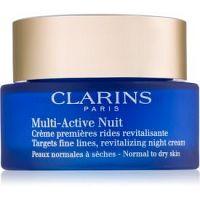 Clarins Multi-Active nočný revitalizačný krém na jemné vrásky pre normálnu a suchú pleť  50 ml