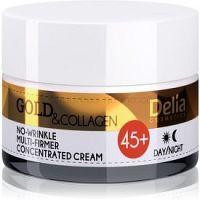 Delia Cosmetics Gold & Collagen 45+ spevňujúci protivráskový krém  50 ml
