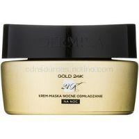 Dermika Gold 24k Total Benefit nočná krémová maska s regeneračným účinkom  50 ml