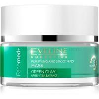 Eveline Cosmetics FaceMed+ čistiaca a vyhladzujúca pleťová maska so zeleným ílom  50 ml