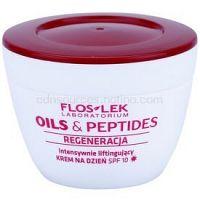 FlosLek Laboratorium Oils & Peptides Regeneration 60+ intenzívny liftingový krém SPF 10  50 ml