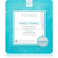 FOREO UFO™ Matte Maniac čistiaca maska s aktívnym uhlím pre matný vzhľad  6 x 6 g