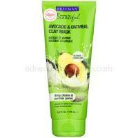 Freeman Feeling Beautiful kaolínová pleťová maska pre normálnu až zmiešanú pleť Avocado & Oatmeal 175 ml