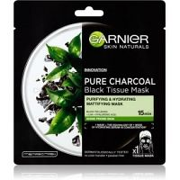 Garnier Skin Naturals Pure Charcoal  čierna textilná maska s extraktom z čierneho čaju  28 g