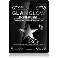 Glam Glow Bubblesheet čistiaca plátienková maska s aktívnym uhlím pre rozjasnenie pleti  1 ks