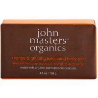 John Masters Organics Orange & Ginseng jemné telové peelingové mydlo  128 g