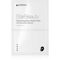 KORIKA StarBeauty čistiaca plátienková maska s aktívnym uhlím  15 g