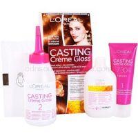 L'Oréal Paris Casting Creme Gloss farba na vlasy odtieň 7304 Cinnamon