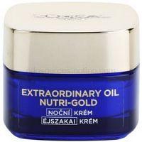 L'Oréal Paris Nutri-Gold rozjasňujúcí nočný krém s intenzitou masky Essential Oils + Royal Jelly - Light Texture, Silky Soft) 50 ml