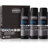 L'Oréal Professionnel Homme Cover 5' tónovacia farba na vlasy 3 ks odtieň 5 Light Brown  3x50 ml