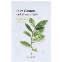 Missha Pure Source plátenná maska s upokojujúcim účinkom Green Tea 21 g
