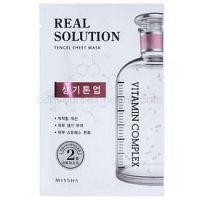 Missha Real Solution plátenná maska s rozjasňujúcim účinkom  25 g