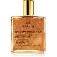 Nuxe Huile Prodigieuse OR multifunkčný suchý olej s trblietkami na tvár, telo a vlasy  50 ml