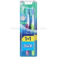 Oral B 3D White Fresh zubné kefky medium 2 ks Violet & Green