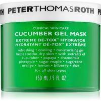 Peter Thomas Roth Cucumber De-Tox hydratačná gélová maska na tvár a očné okolie  150 ml