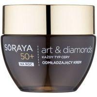 Soraya Art & Diamonds omladzujúci nočný krém s diamantovým práškom 50+  50 ml