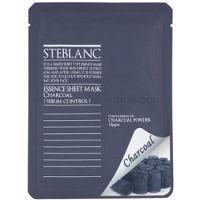 Steblanc Essence Sheet Mask Charcoal čistiaca maska pre mastnú pleť  20 ml