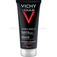 Vichy Homme Hydra-Mag C sprchový gél na telo a vlasy  200 ml