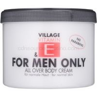 Village Vitamin E For Men Only telový krém bez parabénov
