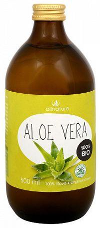 Allnature Aloe vera - 100% Bio šťava 500 ml