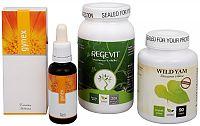 Doporučená kombinace produktů Na menštruáciu - Regevit + Gynex + Wild Yam Premium