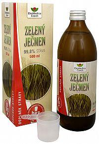 EkoMedica Czech Zelený jačmeň - 99,8% šťava zo zeleného jačmeňa 500 ml