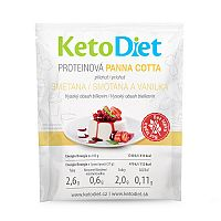 KetoDiet Proteínová panna cotta s príchuťou smotany a vanilky (7 porcií)