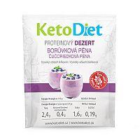 KetoDiet Proteinový dezert BORŮVKOVÁ PĚNA (7 porcí)