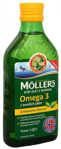 Möller´s Möller´s rybí olej Omega 3 z tresčej pečene s citrónovou príchuťou 250 ml