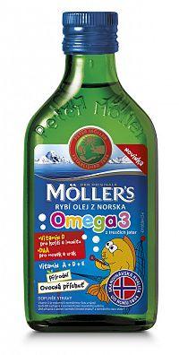 Möller´s Möller`s rybí olej z tresčej pečene z Nórska s prírodnou ovocnou príchuťou 250 ml