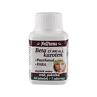 MedPharma Beta karotén 25 000 IU + panthenol + PABA 30 tob. + 7 tob. ZD ARMA