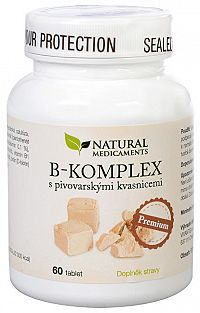 Natural Medicaments B-komplex s pivovarskými kvasnicami Premium 60 tablet
