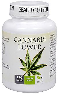 Natural Medicaments Cannabis Power konopné kapsle - 120 kapsúl