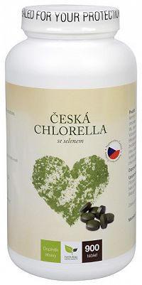 Natural Medicaments Česká chlorella so selénom 900 tbl.