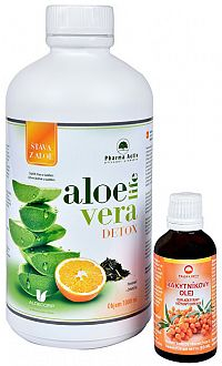 Pharma Activ AloeLive Detox 1000 ml + zdarma Rakytníkový olej 50 ml