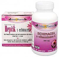 Unios Pharma Echinacea s vitamínom C 500 mg 60 tbl. + Čaj Hepčík s Echinaceou 10 sáčkov ZADARMO