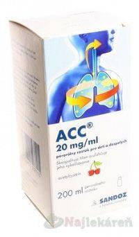 ACC 20 mg/ml perorálny roztok pre deti a dospelých, 200 ml