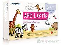 APO-LAKTÍK KIDS, pastilky s jahodovou príchuťou s vitamínom C, 30 ks
