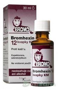 Bromhexin 12 kvapky KM gtt.por.1 x 30 ml